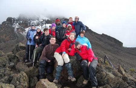 Jonathan and gorup on mountain